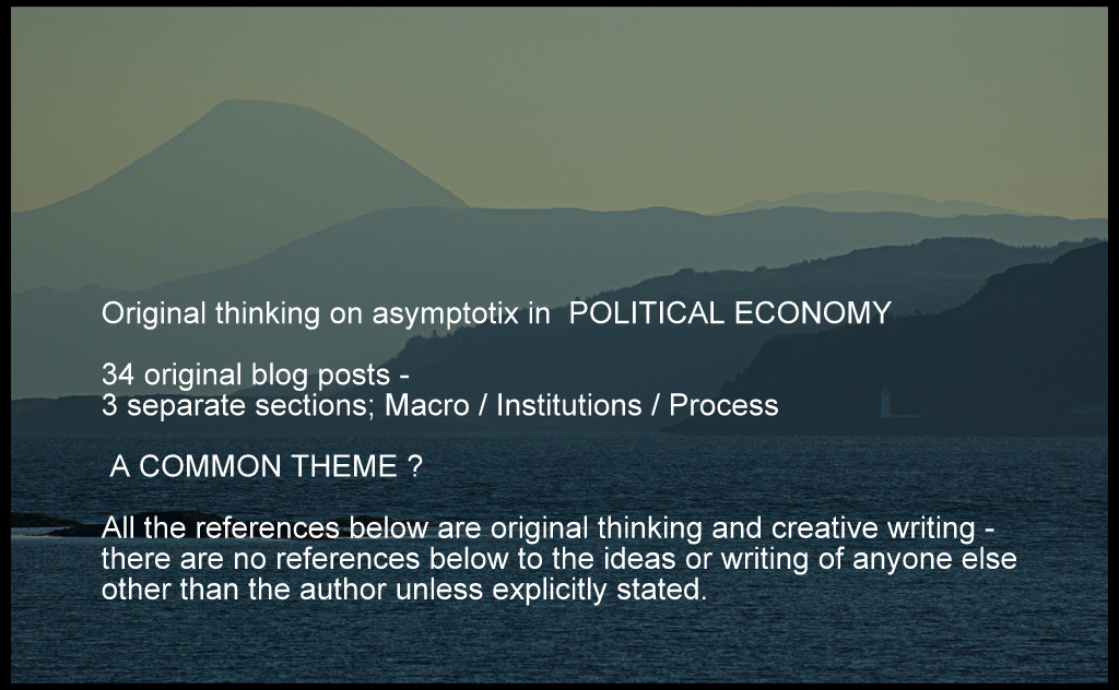 Original thinking on asymptotix in  POLITICAL ECONOMY