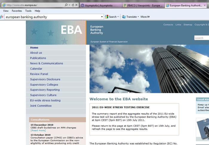 EBA: The European Banking Authority (EBA) Reaches Agreement On